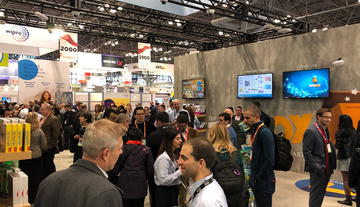 Igniteble: The Toy Box Store, a booth for Cisco at NRF